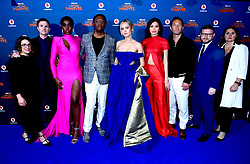 (left to right) Anna Boden, Ryan Fleck, Lashana Lynch, Samuel L. Jackson, Brie Larson, Gemma Chan, Jude Law, Jonathan Schwartz and Victoria Alonso attending the Captain Marvel European Premiere held at the Curzon Mayfair, London. Picture date: Wednesday February 27, 2019. Photo credit should read: Ian West/PA Wire