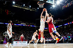 Pau Gasol of Spain and Marc Gasol of Spain vs Semih Erden of Turkey during basketball match between National Teams of Spain and Turkey at Day 11 in Round of 16 of the FIBA EuroBasket 2017 at Sinan Erdem Dome in Istanbul, Turkey on September 10, 2017. Photo by Vid Ponikvar / Sportida