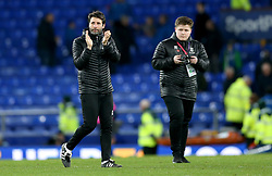 Lincoln City Manager Danny Cowley (left) applauds the fans at the end of the match