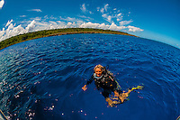Scuba diving trip, Jinek Bay, Lifou (island), Loyalty Islands, New Caledonia