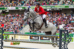 Ludger Beerbaum, (GER), Chiara 222 - World Champions, - Second Round Team Competition - Alltech FEI World Equestrian Games™ 2014 - Normandy, France.<br /> © Hippo Foto Team - Leanjo De Koster<br /> 25/06/14