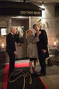 NICKY HASLAM; ELAINE PAIGE, Nicky Haslam hosts dinner at  Gigi's for Leslie Caron. 22 Woodstock St. London. W1C 2AR. 25 March 2015
