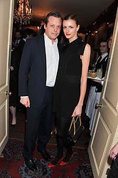 JACQUETTA WHEELER and JAMIE ALLSOPP at a party hosted by Justine Picardie, Editor-in-Chief of Harper's Bazaar UK and Glenda Bailey, Editor-in-Chief of Harper's Bazaar US to celebrate the end of London Fashion Week and the biggest-ever March issues of Harper's Bazaar, held at Mark's Club, Charles Street, London on 19th February 2013.