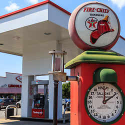 York, PA – June 25, 2016: A Sky Chief gas pump at The Lincoln Highway Turkey Hill Market.