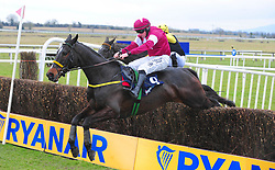 Bel Ami De Sivola ridden by Sean Flanagan clear the last fence to win the BoyleSports Novice Handicap during Ryan Air Gold Cup Day of the 2018 Easter Festival at Fairyhouse Racecourse, Ratoath, Co. Meath.
