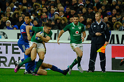 February 3, 2018 - Saint Denis, Seine Saint Denis, France - The Fly-Halfof Irish team JONATHAN SEXTON in action during the NatWest Six Nations Rugby tournament between France and Ireland at the Stade de France - St Denis - France..Ireland Won 15-13 (Credit Image: © Pierre Stevenin via ZUMA Wire)