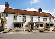 The Bell pub and restaurant, Ramsbury, Wiltshire, England, UK