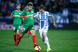 November 23, 2018 - Leganes, MADRID, SPAIN - Eraso of Leganes and Manu of Alaves during the Spanish Championship La Liga football match between CD Leganes and Deportivo Alaves on November 23th, 2018 at Estadio de Butarque in Leganes, Madrid, Spain. (Credit Image: © AFP7 via ZUMA Wire)