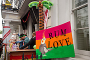 Notting Hill Carnival 2016 Childrens Day. A pop up bar sering rum and beer and called Rum Love, refernencing the song One Love.