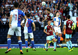 James Tarkowski of Burnley wins a header - Mandatory by-line: Matt McNulty/JMP - 23/08/2017 - FOOTBALL - Ewood Park - Blackburn, England - Blackburn Rovers v Burnley - Carabao Cup - Second Round