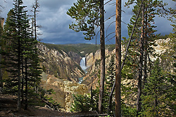 Lower Yellowstone Falls and the Grand Canyon of the Yellowstone River from Artist's Point.