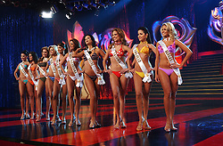 "The 2003 Miss Venezuela Contest.  All 20 contestants took part in a training program with the Miss Venezuela Organization.  The program includes classes on hair, makeup, modeling, question and answer as well as exercise.  The 20 contestants were chosen from among hundreds during ""castings"" across Venezuela.  Ana Karina Añez, from Lara State, was crowned Miss Venezuela 2003."