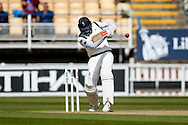 Yorkshire Jack Leaning  (PICTURED) with a four and a 50 run partnership with Yorkshire Gary Ballance  during the Specsavers County Champ Div 1 match between Warwickshire County Cricket Club and Yorkshire County Cricket Club at Edgbaston, Birmingham, United Kingdom on 24 April 2016. Photo by Simon Davies.