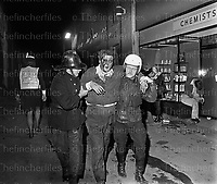 Aftermath of the IRA bombing of the Seven Stars pub in Guildford, Surrey, UK on 5th October 1974. Photo by Terry Fincher