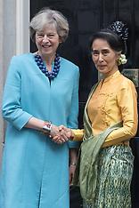 2016-09-13 Burmese Leader Aung San Suu Kyi visits 10 Downing Street