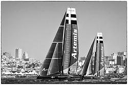 Two fleet races, August 24th, 2012, AC45 World Series San Francisco.