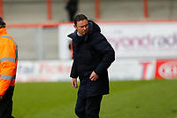 Football - 2020 / 2021 Sky Bet League Two - Morecambe vs. Bradford City<br /> <br /> Morecambe manager Derek Adams after the final whistle as his side won 2-0 on the day but finished in 4th place and missed out on automatic promotion to League 1 next season, at the Mazuma Stadium.<br /> <br /> COLORSPORT/ALAN MARTIN