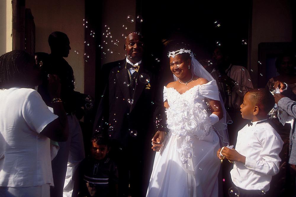 BELIZE / Belize City / Wedding at a Catholic church...© JOAN COSTA