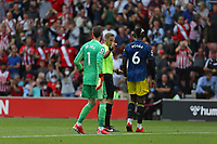 Football - 2021/ 2022 Premier League - Southampton vs. Manchester United - St Mary's Stadium - Sunday 22nd August<br /> <br /> David de Gea of Manchester United and Paul Pogba of Manchester United appeal to Referee Mr Craig Pawson over Saints opening goal at St Mary's Stadium Southampton<br /> <br /> COLORSPORT/Shaun Boggust