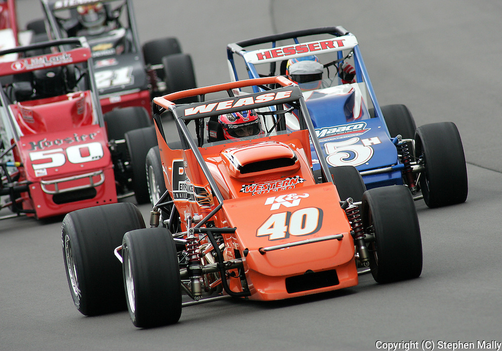 05 MAY 2007: Billy Wease (40) of Western Speed Racing drives around turn one during the sprint car race at the Casey's General Stores USAC Triple Crown at the Iowa Speedway in Newton, Iowa on May 5, 2007.