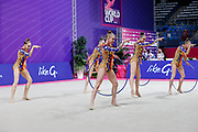 The national team of Belarus during team final at the Pesaro World Championships at Virtifigo Arena, May 30, 2021.