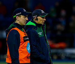 Head Coach Andy Friend of Connacht during the pre match warm up<br /> <br /> Photographer Simon King/Replay Images<br /> <br /> Guinness PRO14 Round 14 - Cardiff Blues v Connacht - Saturday 26th January 2019 - Cardiff Arms Park - Cardiff<br /> <br /> World Copyright © Replay Images . All rights reserved. info@replayimages.co.uk - http://replayimages.co.uk