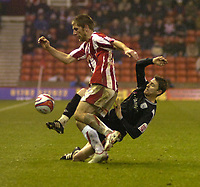 Photo: Matt Bright/Sportsbeat Images.<br /> Stoke City v West Bromwich Albion. Coca Cola Championship. 22/12/2007.<br /> Richard Cresswell of Stoke & Zoltán Gera of West Bromwich Albion
