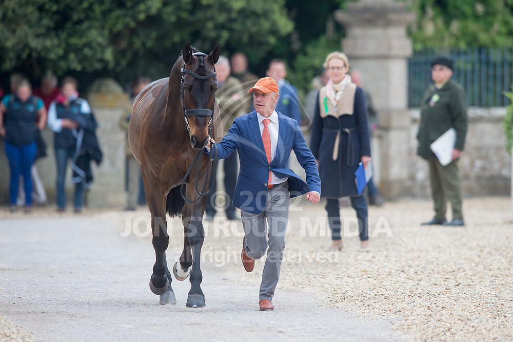Andrew Hoy (AUS) & Rutherglen - Final Horse Inspection - Mitsubishi Motors Badminton Horse Trials - Badminton, Gloucestershire, United Kingdom - 07 May 2017
