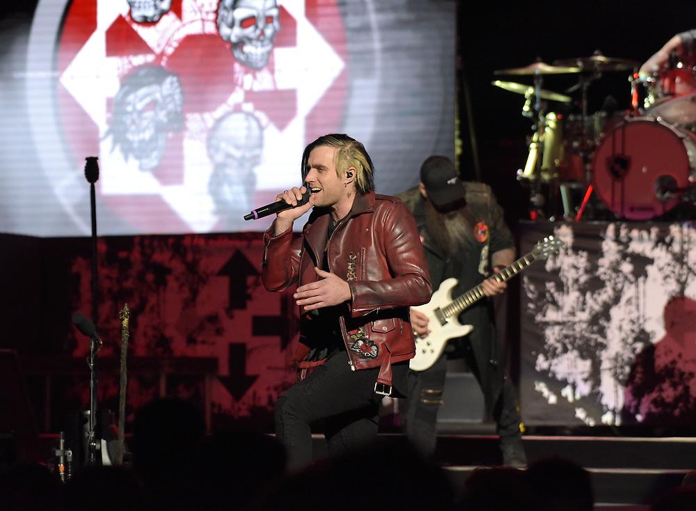 Three Days Grace singer Matt Walst performs Feb. 25, 2019, at Madison Square Garden in New York City.