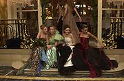 Julia Piaton de Turkheim, Elodie Drut, Valentine Pozzo di Borgo and Josephine Toussaint. Crillon Haute Couture Ball. Crillon Hotel, Paris. 2 December 2000. © Copyright Photograph by Dafydd Jones 66 Stockwell Park Rd. London SW9 0DA Tel 020 7733 0108 www.dafjones.com
