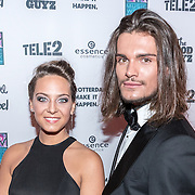 NLD/Rotterdam/20161102 - MTV Music Week Official Opening Party 2016, Sanne de Vries en Koen van Dijk