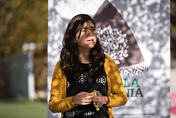 7 December 2019, Madrid, Spain: Sheila Tanaka from Christian Aid, Brazil shares a word of introduction, as people of faith gather in a 'Prayer for the Rainforest' as part of the Cumbre Social por el Clima, on the fringes of COP25 in Madrid, where faith-based organizations continue to urge decision-makers to take action for climate justice.