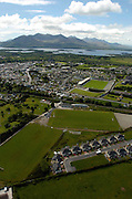 An aerial photo of Killarney town showing Fitzgerald Stadium, Dr. Crokes Pitch, Killarney Celtic pitch and Legion pitch and Deerpark Pitch and Putt..Picture by Don MacMonagle