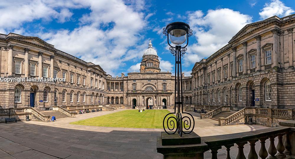 View of quadrangle at Old College at Edinburgh University, Edinburgh, Scotland, UK