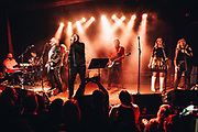 Colin Meloy, Corin Tucker, Kurt Bloch, Chloe Johnson, Josh Kantor and members of R.E.M. performing at Help The Hoople, a benefit for Scott McCaughey, at the Wonder Ballroom in Portland, OR - Jan 6, 2018. Photo by Jason Quigley.