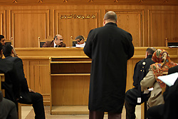 Family Court Appeals Judges Safaak Abaza, left,  and Ahmed Abdel Gileel, right, hear court cases at the Courthouse of New Cairo Personal Status and Family Courts in Cairo, Eqypt on March 5, 2008. Recently in the Muslim world, the reputation of Shariah law has undergone an extraordinary revival.