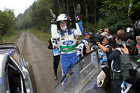 MOTORSPORT - WRC 2012 - WALES RALLY - CARDIFF (WAL) - 14 TO 16/09/2012 - PHOTO : FRANCOIS BAUDIN / DPPI - <br /> LATVALA JARI-MATTI (FIN) - FORD FIESTA RS WRC - AMBIANCE PORTRAIT