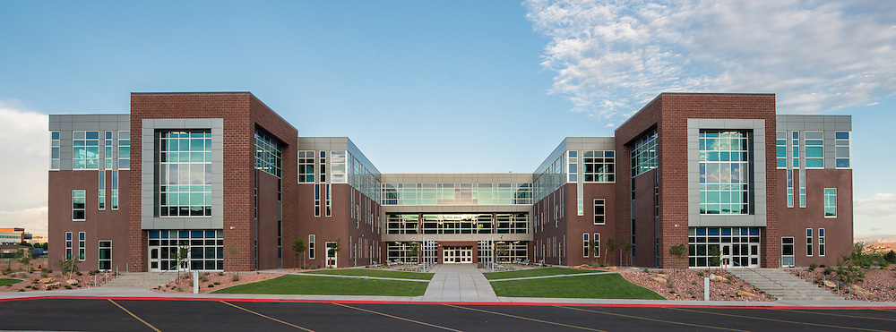 Dixie Middle School architectural photo shoot for NWL Architects in St. George, Utah.