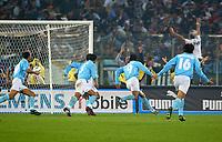 2002 October 27 <br />Lazio - Roma 2-2<br /><br />Stefano Fiore (9) celebrates the first goal for Lazio