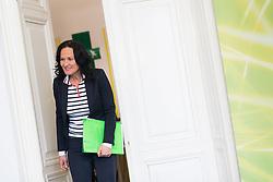 """06.03.2017, Grüner Parlamentsklub, Wien, AUT, Grüne, Pressekonferenz mit dem Titel """"Die unsolidarische EU-Politik der Regierung und aktuelle frauenpolitische Fragen"""". im Bild Grüne Klubobfrau Eva Glawischnig // Leader of the parliamentary group the greens Eva Glawischnig during press conference of the parliamentary group the greens in Vienna, Austria on 2017/03/06. EXPA Pictures © 2017, PhotoCredit: EXPA/ Michael Gruber"""