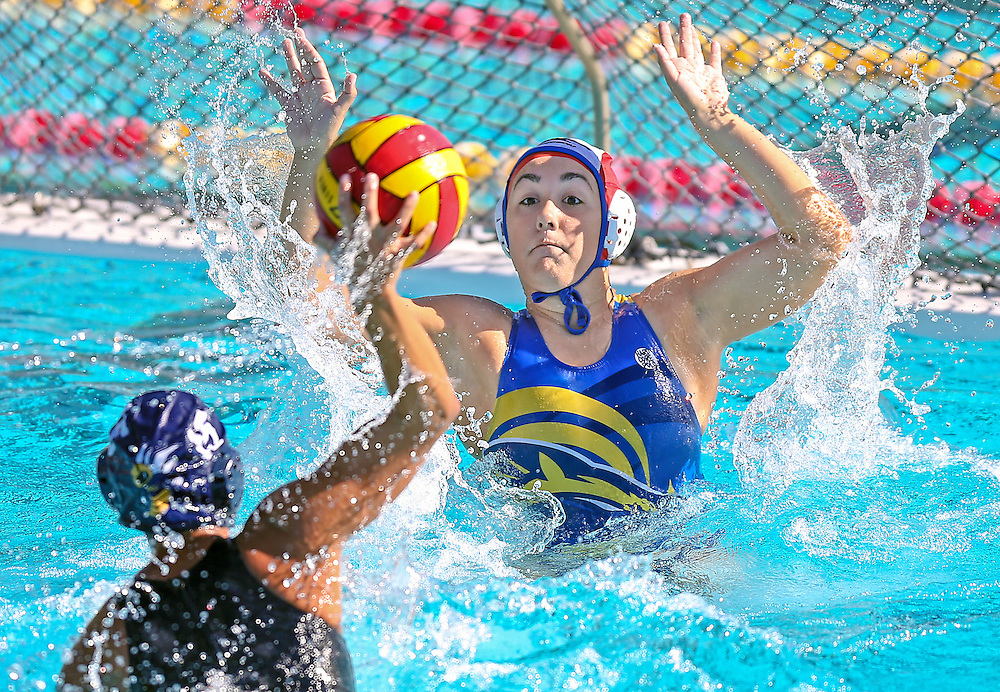 Marissa Vacher of Fullerton College scores a goal in her team's 17-3 win over Cyprus College during the Orange Empire Conference tournament.