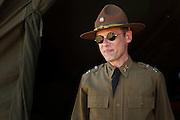 Living historian as pre-war cavalry officer.