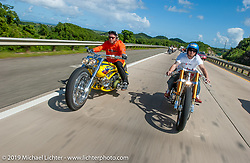 Biker Build Off between Arlen Ness and Roland Sands in Puerto Rico photographed in December 2004.