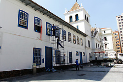 April 26, 2018 - SãO Paulo, Brazil - SÃO PAULO, SP - 26.04.2018: RECUPERAÇÃO FACHADA DO PATEO DO COLLEGIO - The restoration of the facade of the Pateo do Collegio, in the central region of the city, is in the final phase, after being stamped on the night of the last day 11. The re-inauguration is scheduled for May 6. (Credit Image: © Aloisio Mauricio/Fotoarena via ZUMA Press)