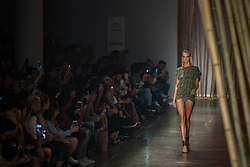 August 29, 2017 - Sao Paulo, Sao Paulo, Brazil - Model presents creation by Agua de Coco, during the Sao Paulo Fashion Week, N44 Summer 2018 edition, in Sao Paulo, Brazil. (Credit Image: © Paulo Lopes via ZUMA Wire)