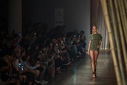 August 29, 2017 - Sao Paulo, Sao Paulo, Brazil - Model presents creation by Agua de Coco, during the Sao Paulo Fashion Week, N44 Summer 2018 edition, in Sao Paulo, Brazil. (Credit Image: © Paulo Lopes via ZUMA Wire)