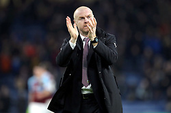 Burnley manager Sean Dyche applauds the fans after the final whistle during the Premier League match at Turf Moor, Burnley.