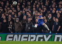 Football - 2018 / 2019 EFL Carabao Cup (League Cup) - Semi-Final, Second Leg: Chelsea (0) vs. Tottenham Hotspur (1)<br /> <br /> Oliver Giroud (Chelsea FC) waits to try a spectacular volley at Stamford Bridge <br /> <br /> COLORSPORT/DANIEL BEARHAM