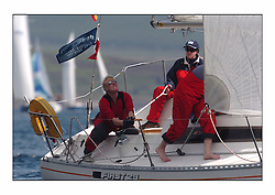 Racing at the Bell Lawrie Yachting Series in Tarbert Loch Fyne. Sunday racing was dominated by light winds...Finesse 1492C.
