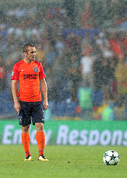 August 16, 2017 - Medipol Basaksehir's Edin Visca  during Medipol Basaksehir - Sevilla UEFA Champions League Play - Off 1st round game at Istanbul Fatih Terim Stadium, 16th August, 2017. (Credit Image: © Tolga Adanali/Depo Photos via ZUMA Wire)